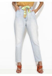 Calça Jeans Mia Com Faixa Azul