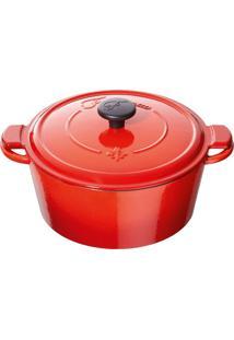 Caçarola Fontignac Redonda Ferro Vermelho 20Cm - 30749