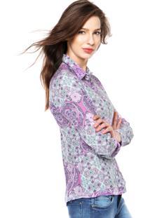 Camisa Manga Longa Enfim Estampada Rosa