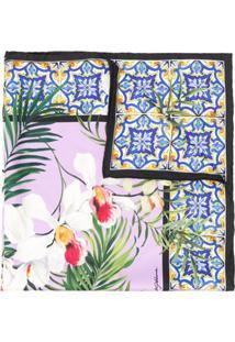 Dolce & Gabbana Echarpe Com Estampa De Orquídea - Roxo