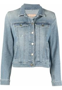 7 For All Mankind Jaqueta Jeans Slim - Azul