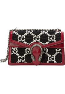 Gucci Bolsa Tiracolo Dionysus Gg Pequena De Tweed - Vermelho