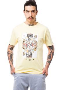 Camiseta Fallen Queen Of Hearts Amarelo