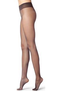 Meia Calça Super Transparente Fio 8 - Marrom P