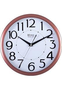 ef09e313460 ... Relógio De Parede Analógico Decorativo Moderno Borda Rosê Gold Herweg  Rosê