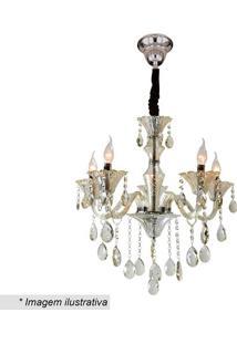 Lustre Maria Thereza- Cristal & Âmbar- 60Xø60Cm-Hevvy