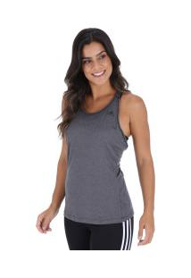75b1ff87e4 ... Camiseta Regata Adidas 3 Stripe Tank - Feminina - Cinza