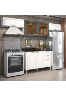Cozinha Completa 5 Peã§As Americana Multimã³Veis 5692 Branco/Grafite - Branco/Incolor - Dafiti