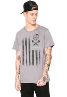 Camiseta Fiveblu Manga Curta Motor Club Cinza