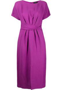 Antonelli Belted Midi Dress - Roxo