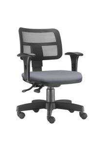 Cadeira Giratória Executiva Lyam Decor Zip Corino Cinza