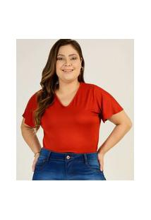 Body Plus Size Feminino Manga Curta