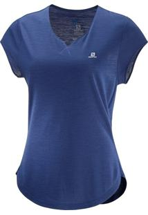 Camiseta Salomon X Ss Feminino P Violeta