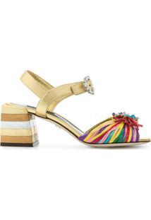 Dolce & Gabbana Sandália 'Keira' De Couro - Estampado