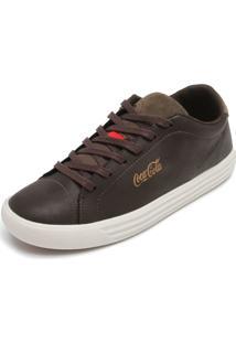 Tênis Coca Cola Shoes Recortes Marrom