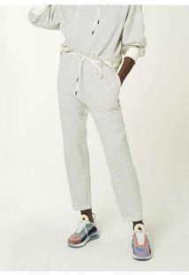 Calça Feminina Com Cordão Para Amarração Branco