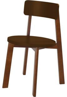 Cadeira Lina Cor Cacau Com Marrom - 31537 Sun House