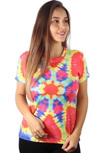Camiseta Baby Look Psicodélico Tie Dye Md06