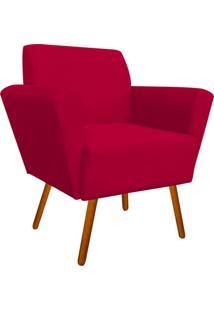 Poltrona Decorativa Dora Suede Vermelho - D'Rossi