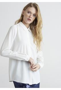 Camisa Feminina Mindset Manga Longa Branca