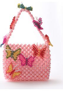 Bolsa Beaded Bag Cute Butterfly - Tricae