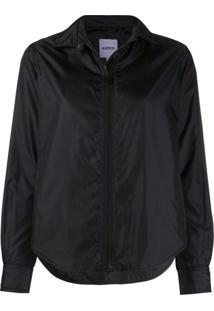 Aspesi Pointed Collar Zipped Jacket - Preto