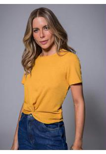 Blusa Feminina Crepe Amarelo