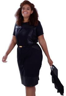 Vestido Vickttoria Vick Mix Malha Geórgia Plus Size