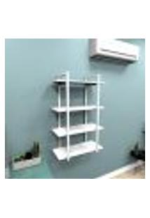 Estante Industrial Escritório Aço Cor Branco 60X30X98Cm (C)X(L)X(A) Cor Mdf Branco Modelo Ind41Bes