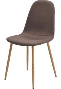 Cadeira Jacob Cor Marrom Pes Palito Madeira Clara - 38588 - Sun House