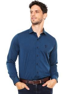 Camisa Aleatory Slim Azul