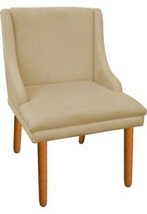 Cadeira Poltrona Decorativa Liz Suede Bege - D'Rossi