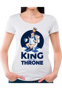 Camiseta Feminina King Throne Geek10 - Branco