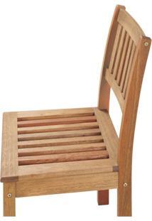 Cadeira Em Madeira Maciça Sem Braços Primavera Casa E Jardim Móveis Stain Jatobá