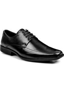 Sapato Social Couro Clássico Bigioni Bico Quadrado - Masculino-Preto