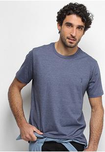 Camiseta Aleatory Masculino Básica Lisa Masculina - Masculino-Marinho