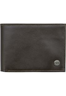Carteira Corazzi Leather Deluxe Completa Couro Marrom