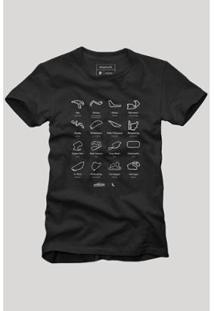 Camiseta Circuitos Reserva Masculina - Masculino-Preto