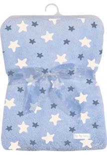 Cobertor De Poliéster - 80X110 Cm - Estrelinhas - Azul - Tip Top - Único