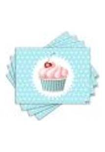 Jogo Americano - Cupcake Com 4 Peças - 987Jo