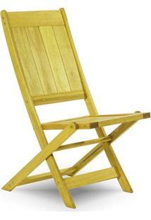 Cadeira Dobrável Sem Braço Acqualung Amarelo Mão E Formão