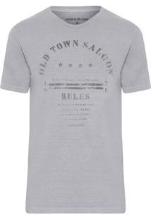 Camiseta Masculina Estampada Degradê - Cinza