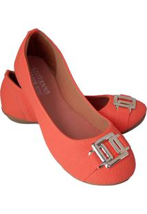 Sapatilha Feminina Estilo Shoes Ga740 Laranja