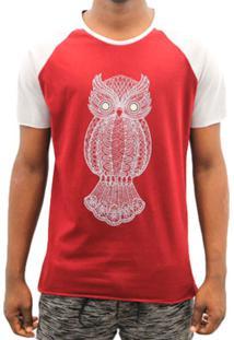 Camiseta Melty Owl Estampa Coruja Vinho