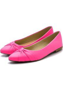 Sapatilha Bico Fino Fandarello Pink - Rosa - Feminino - Dafiti
