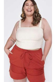 Top Cropped Almaria Plus Size Tal Qual Cropped Plu