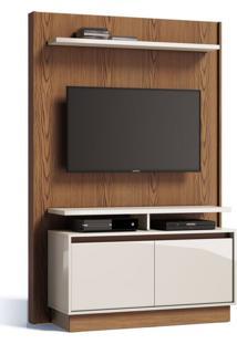 Painel Para Tv 40 Polegadas Fit Freijã³ Com Off White 122 Cm
