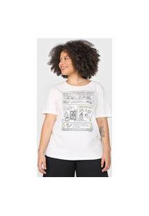 Camiseta Cantão Classic Exploradora Off-White