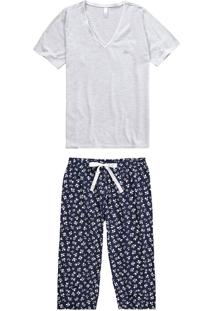 Pijama Corsário Floral Malwee Liberta