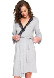 Robe Any Any Young Mom Cinza